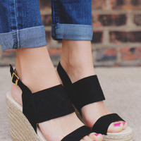 Smooth Sailing Wedge - Black