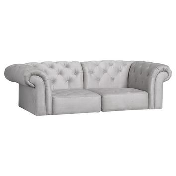 Cushy Roll Arm Loveseat Set