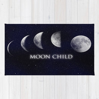 Moon Child Rug by DuckyB (Brandi)