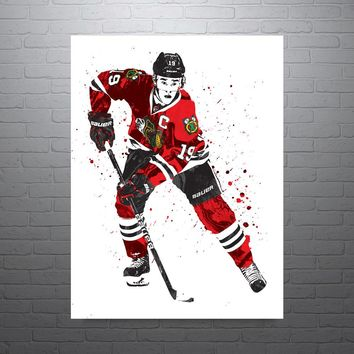 Jonathan Toews Chicago Blackhawks Poster