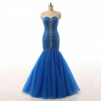 New Spring Dress Heavy Beaded Organza Mermaid Prom Dresses Prom Gown