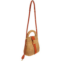 Mark Cross Manray Rattan Satchel