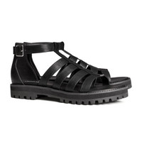 H&M - Strappy Sandals - Black - Ladies