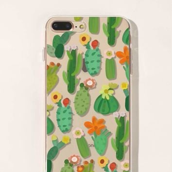 Cactus Pattern Iphone Case