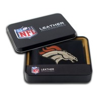 NFL Denver Broncos Embroidered Genuine Cowhide Leather Billfold Wallet