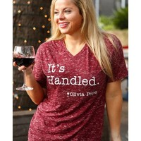 ATX Mafia Women's Red Olivia Pope Scandal V-Neck Top