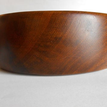 Mid Century Danish Modern Teak Wood Bowl Large Hand Made