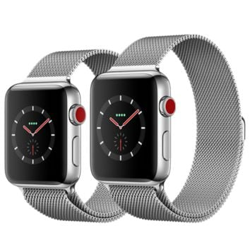 Apple Watch - Stainless Steel Case with Milanese Loop