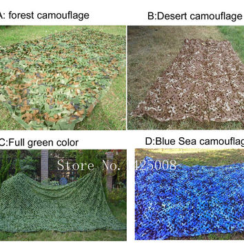 3*3M four colors Camouflage net Camo Blinds Net Cover  For Army Military Hunting Camping Military Photography Birdwatching F284