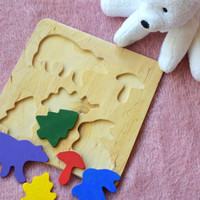 Wooden puzzle Baby Toy Montessori Educational Toys Animal wooden puzzles Toddler wood Baby Shower Gift Organic kids learning game Eco toys