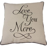 Mainstays Love You More Pillow - Walmart.com