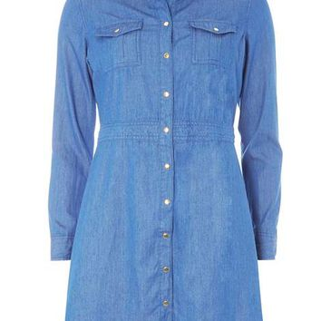 Petite 3/4 Sleeve Denim Dress - View All Dresses - Dresses
