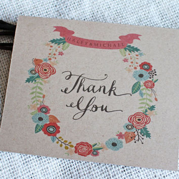 Wedding Thank You Card. Recycled Wedding Thank You Cards . Wedding Thank You Notes . Thank You Cards Wedding. Wedding Stationary