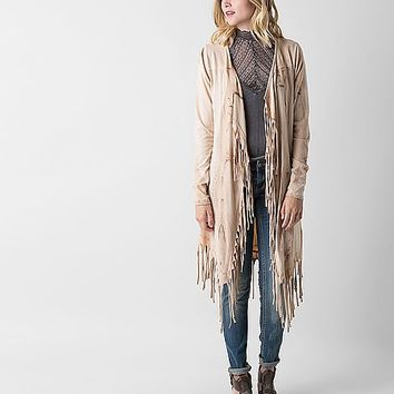 Gimmicks Fringe Duster Cardigan