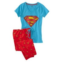 Superman ® Juniors Knit Pajama Set - Blue/Red XS