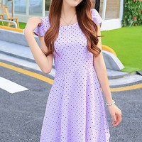 Sweet Dotted A-line Dress - OASAP.com