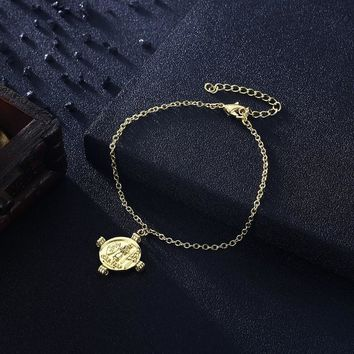 Greek Coin Caeser Bracelet in 18K Gold Plated