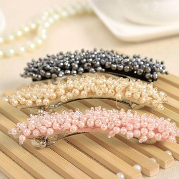 Crystal & Acrylic Beads Hair Clips Hairpins for Girls Headwear Hair Accessories Barrettes for Ladies