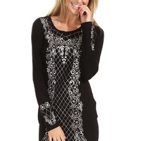 Sugarlips Baroque Sweater Dress
