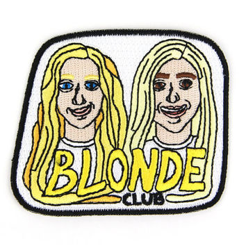 Blonde Club Iron On Patch