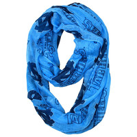 North Carolina Tar Heels NCAA Sheer Infinity Scarf