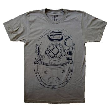 US Navy Copper Diving Helmet T-shirt