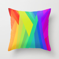 Rainbow Crystals Throw Pillow by House of Jennifer