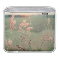Pink Wild Flowers in a Grass Field Sleeve For iPads