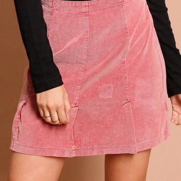Make You Blush Corduroy Skirt | Threadsence