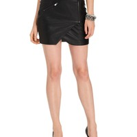 GUESS Skirt, Faux-Leather Motorcycle Mini - Women - Macy's