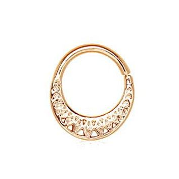 Rose Gold Plated Made for Royalty Annealed Tribal Septum Ring