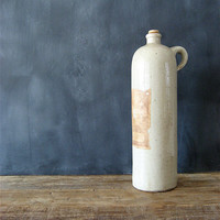 Vintage French Stoneware Bottle by lovintagefinds on Etsy