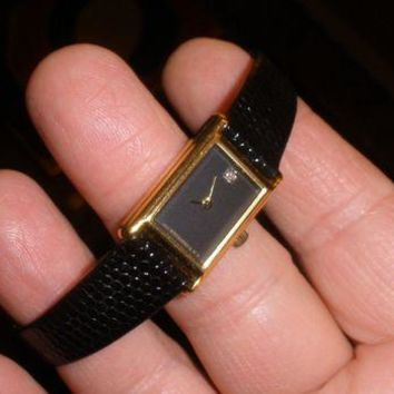 ONETOW longines wittnauer ladies petite dress watch new battery clean orig band 6 3/4in