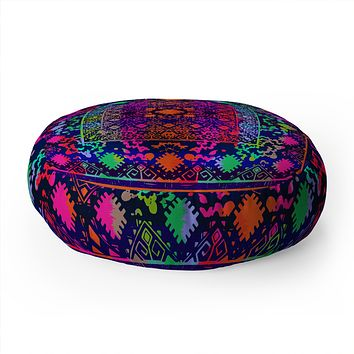 Aimee St Hill Eva Black Floor Pillow Round