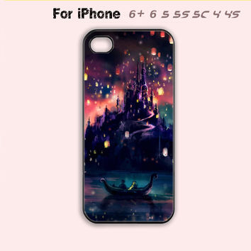 Tangled Castle Phone Case For iPhone 7 7Plus For iPhone 6 Plus For iPhone 6 For iPhone 5/5S For iPhone 4/4S For iPhone 5C-5 Colors Available