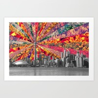 Blooming Toronto Art Print