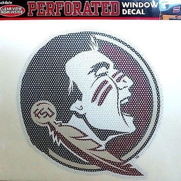 "Florida State Seminoles FSU SD 8"" Perforated Auto Window Film Decal University"