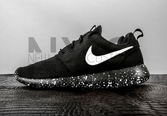 Oreo Nike Roshe One Run Black White from NYCustoms on Etsy 64ec0f3d3