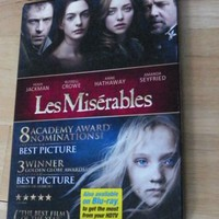 Les Misérables Feature Length Movie plus Bonus Features DVD 2013 Hugh Jackman