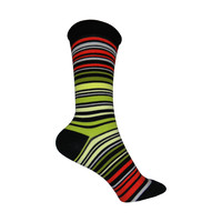 UPC Stripe Crew Socks in Black