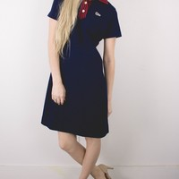 Vintage 60s Polo Style Shift Mini Dress