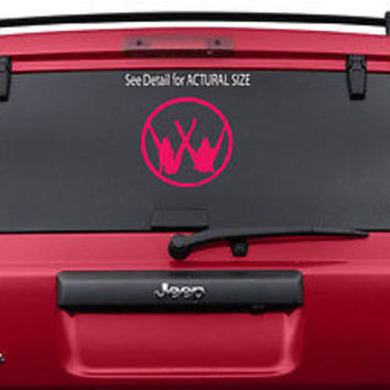 VW GIRL SEXY LEGS VOLKSWAGEN HOT WOMAN LOGO VINYL DECAL STICKER