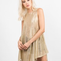 Golden Flakes Party Dress