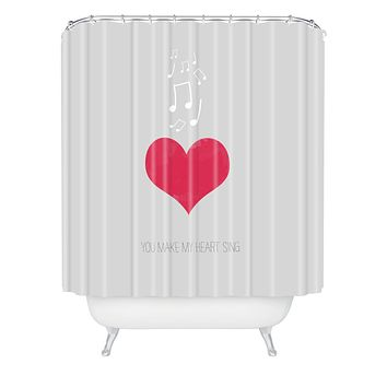 Allyson Johnson You Make My Heart Sing Shower Curtain
