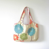 Floral Tote Bag Large Floral Purse Beach Bag Book by moxiebscloset