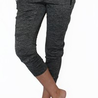 Gray Fleece Lined Pocket Activewear Bottom