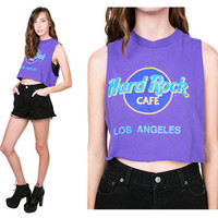 Vintage 90s LA Hard Rock Cafe Cut Off Muscle Tee