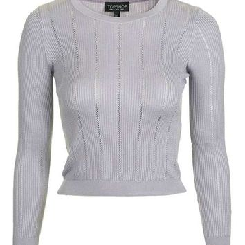 Pointelle Ribbed Crop Top - New In This Week - New In