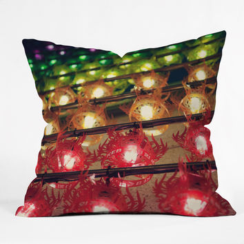 Catherine McDonald Rainbow Lanterns Outdoor Throw Pillow