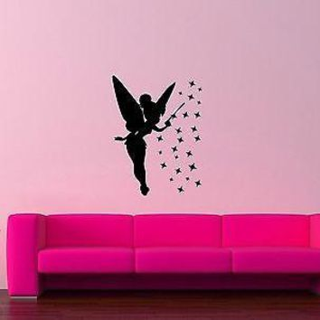 Wall Stickers Vinyl Decal Fairy Magic For Girls Nurserey Unique Gift ig1551